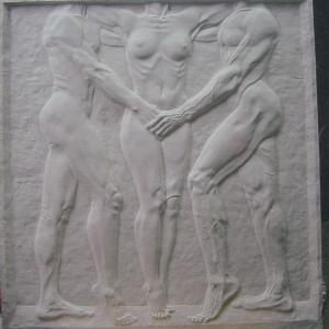 擅长人体写实雕塑,浮雕medallion