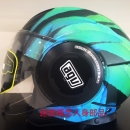 AGV-FLUID KEW MATT BLACKLIME AQUA